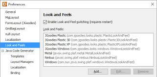 java null layout manager swing preferences jformdesigner java swing gui designer
