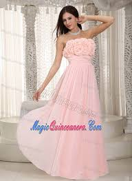light pink dama dresses flowery and ruched floor length pink quinceanera dama dress 2013