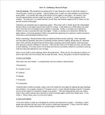 paper outline template mla research paper outline template