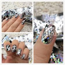 aliexpress com buy 1 roll 4 100cm holographic nail foils snake