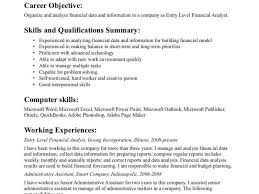 resume entry level objective examples sample objectives for entry level resumes sample high