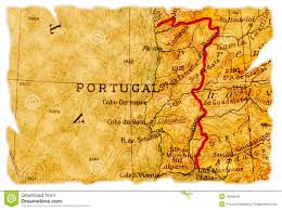 Portugal Spain Map by Vintage Map Of Spain And Portugal Stock Image Image 3882721