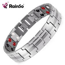 energy bracelet titanium images Rainso fashion jewelry healing fir magnetic titanium bio energy jpg