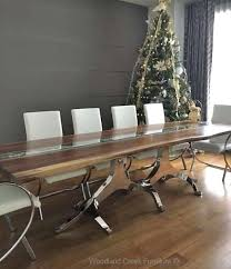 live edge table with turquoise inlay inlaid dining table white oak dining table with turquoise inlay