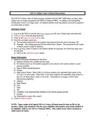 print a njcaa letter of intent form fill online printable