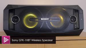 sony high powered bluetooth light up speaker gtk xb5 sony gtk 1xbt wireless speaker review youtube