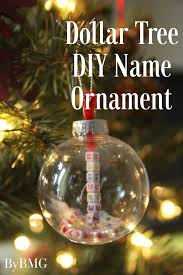 bybmg dollar tree diy name ornament