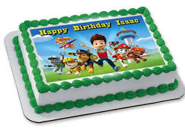 Paw Patrol 3 Edible Birthday Cake OR Cupcake Topper – Edible