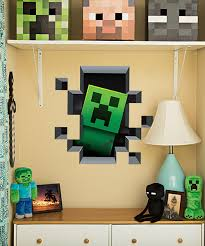 minecraft creeper wall cling fun little touch for a minecraft