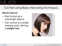 how to cut hair with a weight line chapter 16 haircutting note this chapter of the instructor