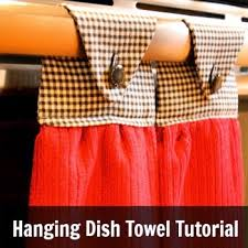 kitchen towel holder ideas hanging dish towel tutorial hometalk