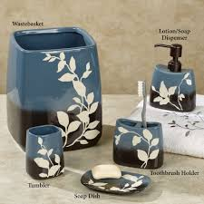 Blue And White Bathroom Accessories by Passell Blue And Brown Ceramic Bath Accessories
