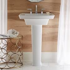 24 inch pedestal sink pedestal sink wyatt 24 inch pedestal lavatory by dxv