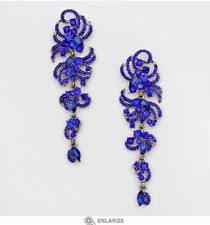 royal blue earrings 2 8 royal blue dangle rhinestone drop wedding
