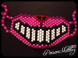 kandi mask cheshire cat kandi mask pink poison skittlez attire
