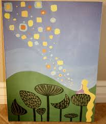 tangled inspired rapunzel tower lantern painting 35 disney