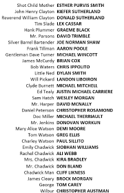 Seeking Cast And Crew Forsaken Cast Crew