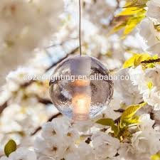 Christmas Decorations Hanging Light Fixtures by Modern Led Glass Bubble Crystal Chandelier Pendant Hanging Light
