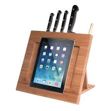 cta digital bamboo adjustable kitchen stand for ipad pad bks b u0026h