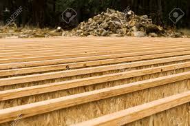 engineered wood floor joist layout on a custom luxury home