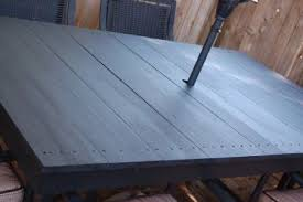 replace glass patio table top with wood patio table top replacement ideas biantable