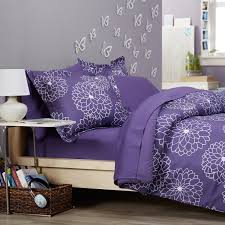 bedroom cool beds design with purple tween bedding and white