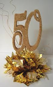 50th anniversary centerpieces anniversary centerpiece with metallic tissue with or with out