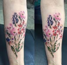 36 stunning watercolor flower tattoos tattooblend