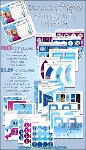 disney u0027s frozen birthday party printable set free