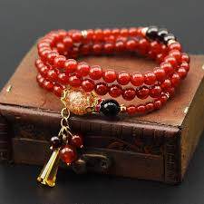 red crystal bead necklace images Red crystal tibetan buddhist prayer bead necklace absolute blessings jpg