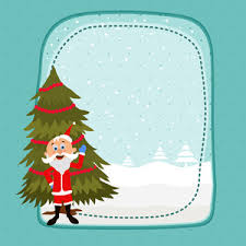 merry christmas celebration greeting card design with various