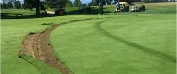 driver speeds through colorado course nearly hitting golfers