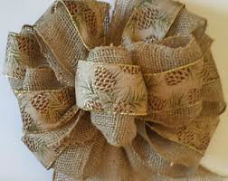 burlap christmas tree topper bow for christmas tree bow red