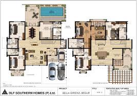 Bonanza House Floor Plan by Dlf Bella Greens Realty Bonanza