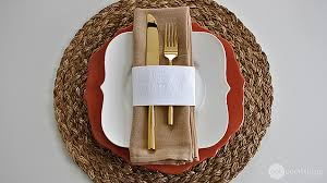 embossed thanksgiving napkin rings one thing by jillee