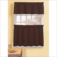 Short Wide Window Curtains by Interiors Amazing Wood Blinds With Curtains Large Kitchen Window