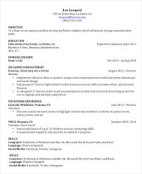 resume for high student pdf gallery of undergraduate resume template