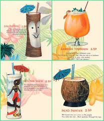 vintage sixties alcohol drinks 1960s cocktails rum tiki kitsch