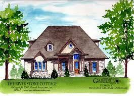 craftsman style home plans river stone cottage house plan house plans by garrell associates