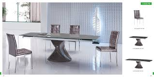 Modern Dining Table Designs 2014 Wondrous Rectangle Grey Gloss Modern Dining Table With Unique Arts