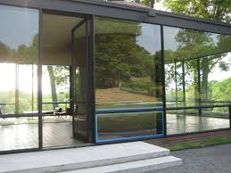 narrow modern house furniture exterior wooden door with stained glass panels for small
