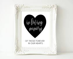 in loving memory wedding calligraphy in loving memory wedding sign template