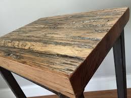 oak wood bar stools buy a hand crafted reclaimed oak wood bar stools w steel frames