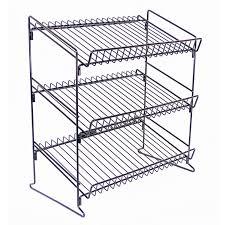 Wire Rack Shelf Counter Display Racks 3 Shelf Wire Counter Display Rack