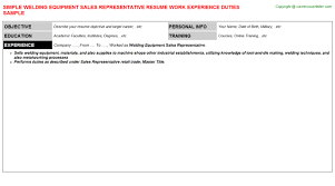 Maintenance Foreman Resume Kitchen Equipment Sales Resumes Samples