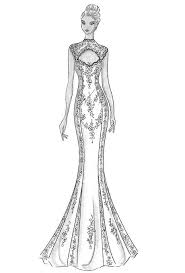 pictures dress sketch designs drawing art gallery