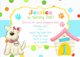 dog birthday invitations u2013 gangcraft net