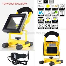 Led Flood Lights Outdoors Battery Powered Rechargeable Led Floodlight 10w 20w 30w 50w Ip65