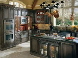 Classic Kitchen Backsplash Creamy Marble Countertop Island Table Black Granite Countertops