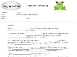 Preterite Worksheet Preterite Tense Irregular Verbs 7th 9th Grade Worksheet